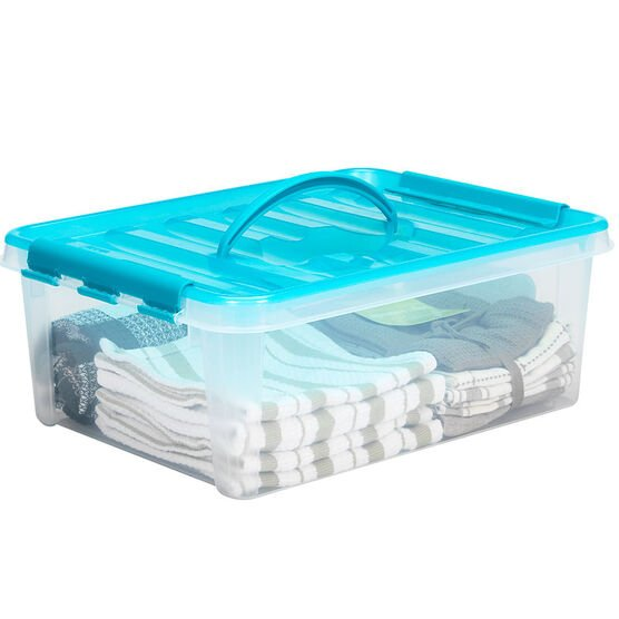 Snapware Smart Store with Turquoise Handles - 10.6L