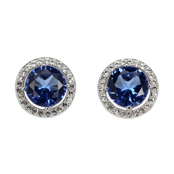 Eliot Danori Frame Clip-on Earrings - Blue