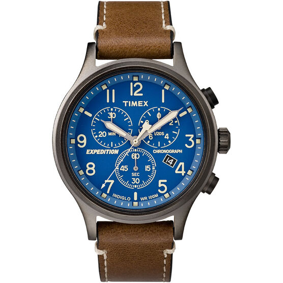 Timex Expedition Scout Watch - Brown/Blue - TW4B09000ZA