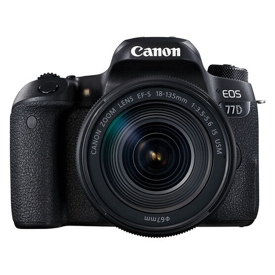 Canon EOS 77D with 18-135mm IS USM Lens - Black - 1892C002