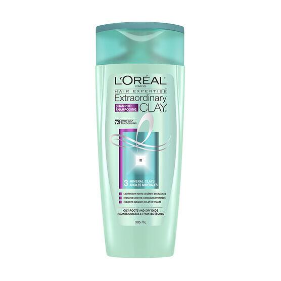 L'Oreal Extraordinary Clay Shampoo - Oily Roots & Dry Ends - 385ml