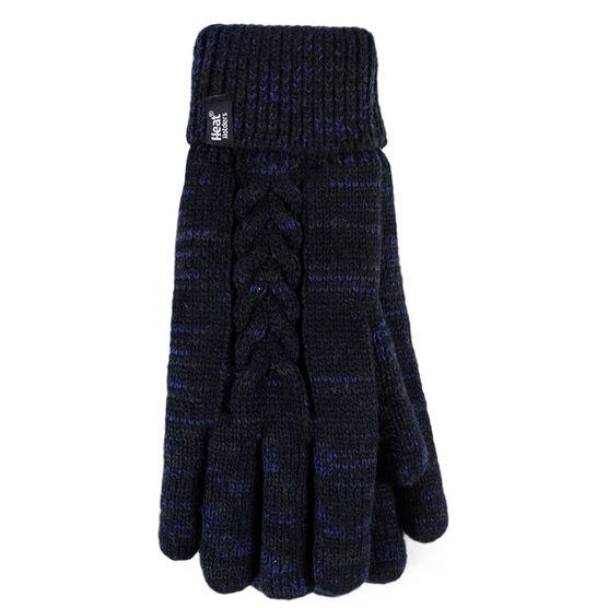 Heat Holders Ladies Gloves - Black Fleck - Small/Medium