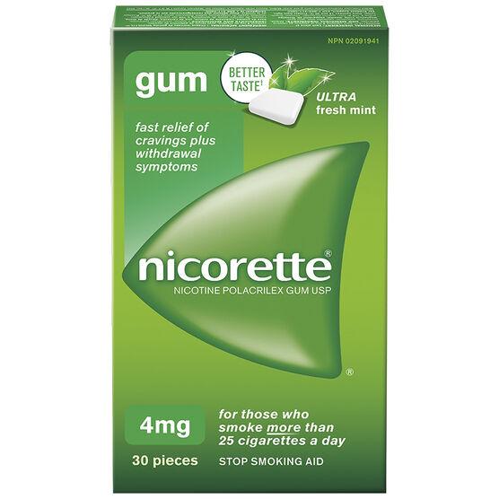 Nicorette Gum - Ultra Fresh Mint - 4mg - 30's