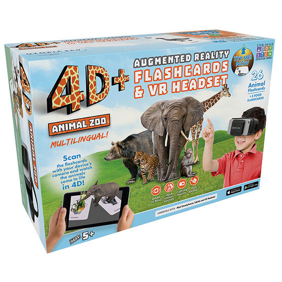 ReTrak 4D Augmented Reality Cards with VR Headset - Zoo - ETVRARZOO