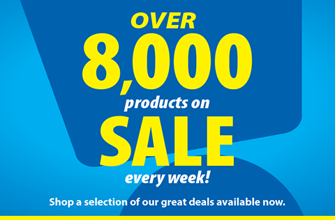 Over 8,000 products on SALE every week. Shop a selection of our great deals available now.