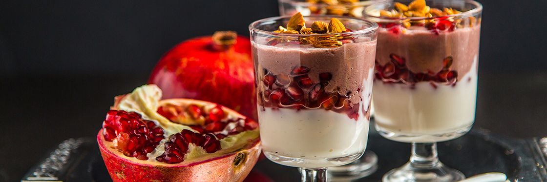 Pomegranate Smoothie Parfait