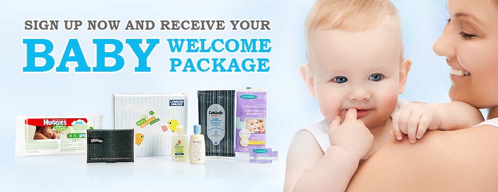 Sign up now and receive your baby welcome package.