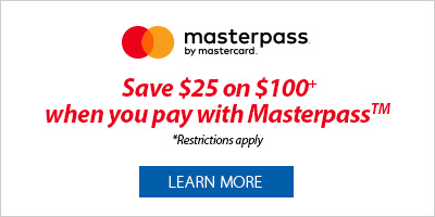 Masterpass - Save $25 on $100+ when you pay with Masterpass