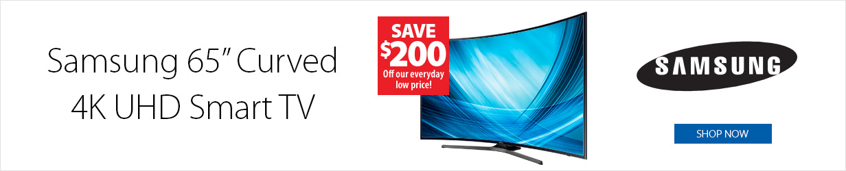 Samsung 65-in 4K UHD Curved TV