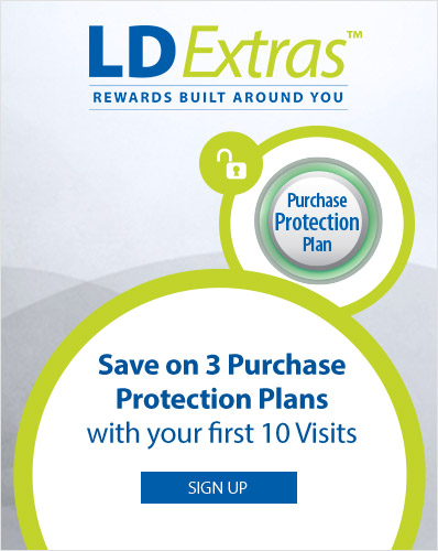 LDExtras. Save on 3 Purchase Protection Plans with your first 10 visits.
