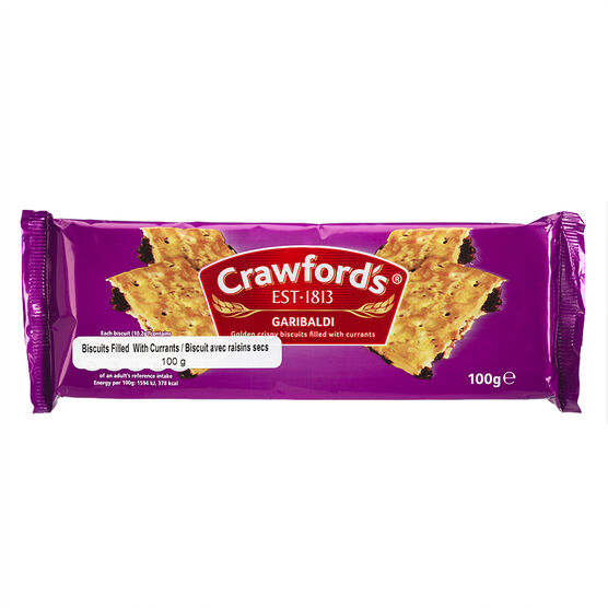 Crawford's Garibaldi Biscuits - 100g