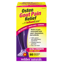 Webber Naturals Osteo Gout Pain Relief with InflamEase - 60's