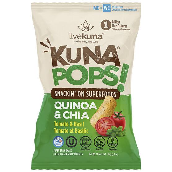 Kuna Pops Quinoa & Chia - Tomato & Basil - 35g