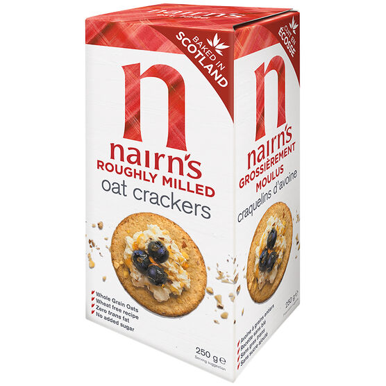 Nairns Organic Roughly Milled Oat Crackers - 250g