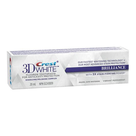 Crest 3D White Toothpaste Brilliance - Vibrant Peppermint - 20ml