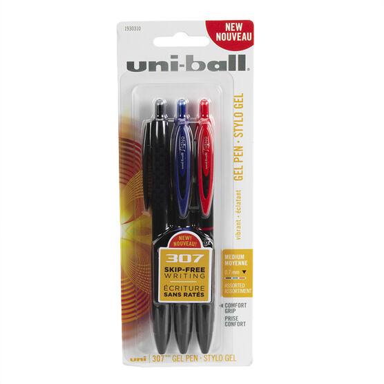 Uni-ball 307 Gel Pen - 3 pack