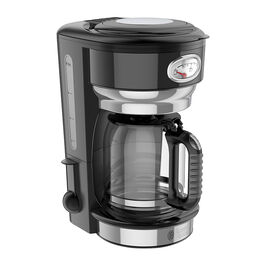 Russell Hobbs Retro 8 Cup Coffee Machine - Black - CM3100BKRC