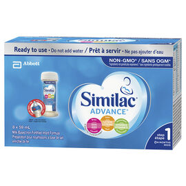 Similac Non-GMO Nursettes - 8x59ml
