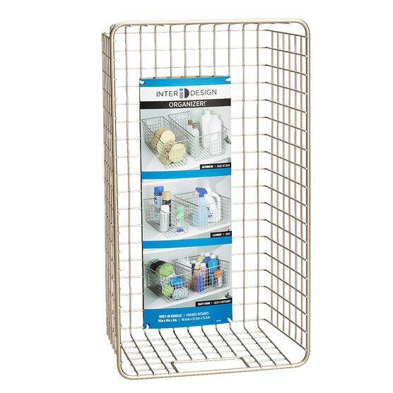 InterDesign Deep Wire Basket - Satin - 90245