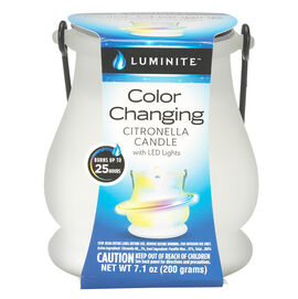 Luminite Citronella LED Colour Changing Candle - 200g