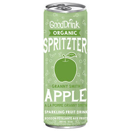 GoodDrink Organic Spritzer - Granny Smith Apple - 355ml
