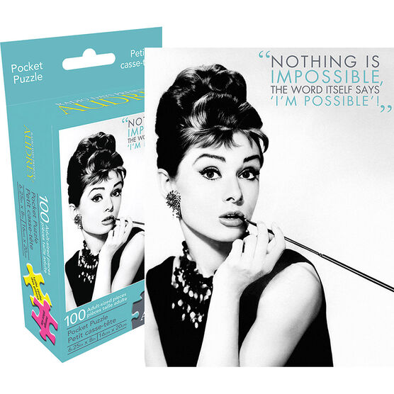 Audrey Hepburn Mini Quote Puzzle - Assorted