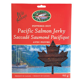 West Coast Select Pacific Salmon Jerky - Peppered Hot - 90g