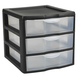 Sterilite 3 Drawer Unit - Black - Small