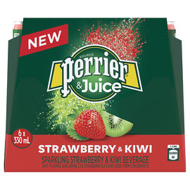 Perrier & Juice Sparkling Beverage - Strawberry & Kiwi - 6x330ml