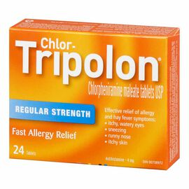 Chlor-Tripolon 4mg Tablets - 24's