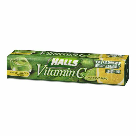Halls Vitamin C - Lemon-Lime - 9 drops
