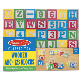 Melissa & Doug Wooden ABC and 123 Blocks
