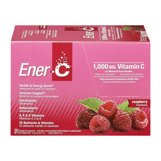Ener-C Vitamin C Powered Drink Mix - 1000mg - Raspberry - 30's