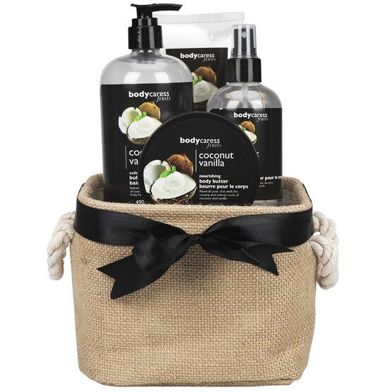 BodyCaress Fruits Gift Set - Coconut Vanilla - 4 piece