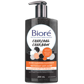 Biore Charcoal Acne Clearing Cleanser - 200ml