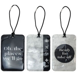 My Tagalongs Luggage Tags - Marble & Black - 57105