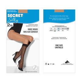 Secret Silky Knee High's - Neutral - 2 pair