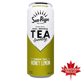 Sun-Rype Sparkling Green Tea - Honey Lemon - 355ml