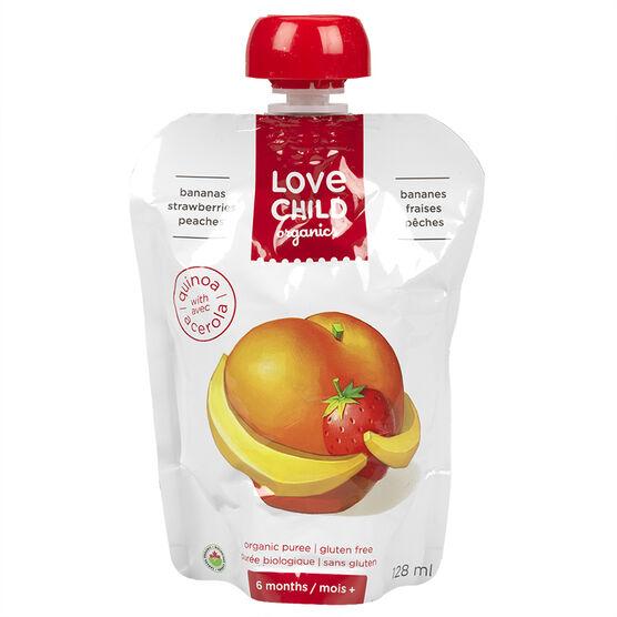 Love Child Bananas Strawberries Peaches 128ml