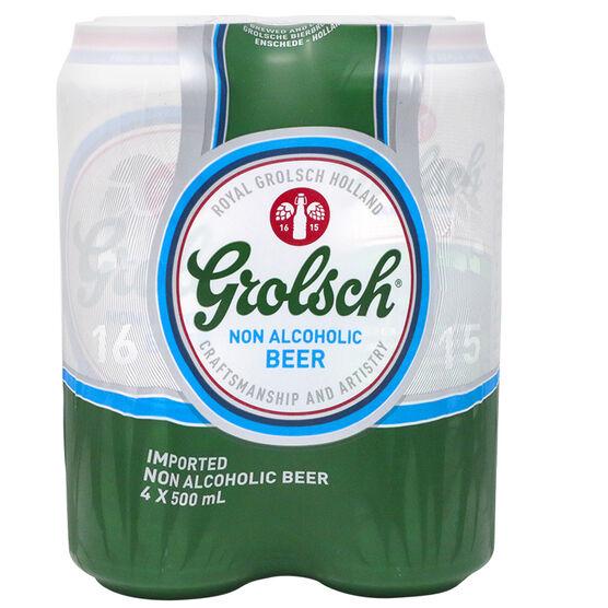 Grolsch Non-Alcoholic Beer - 4 x 500ml