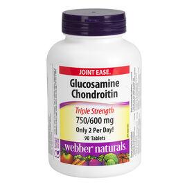 Webber Naturals Glucosamine & Chondroitin Sulfate 750mg/600mg - 90's