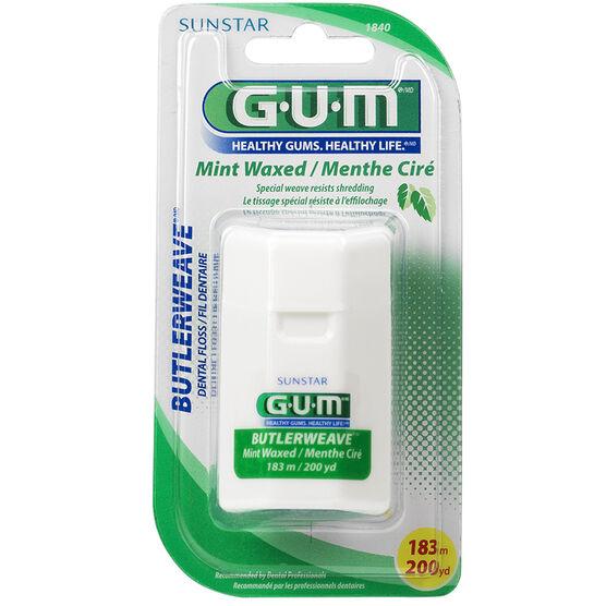 G.U.M. ButlerWeave Floss - Mint Waxed - 183m