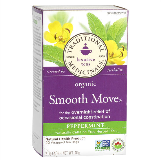 Traditional Medicinals Tea - Smooth Move Peppermint - 20's