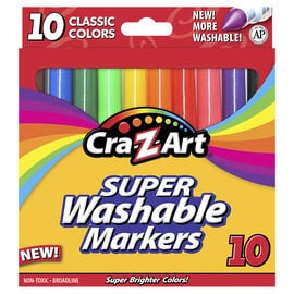 Cra-Z-Art Broadline Markers - Washable - 10's