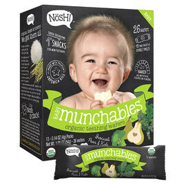 Nosh Baby Munchables - Broccoli, Pear and Kale - 54g/26 Wafers