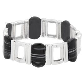 Nine West Stretch Bracelet - Silver Tone & Black
