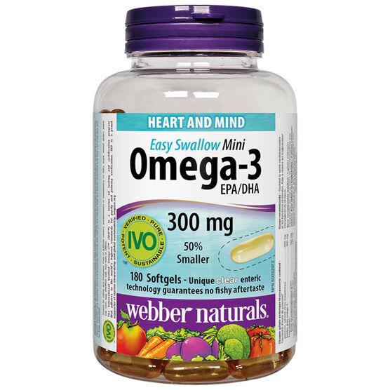Webber Naturals Omega-3 Mini Enteric Softgels - 180's