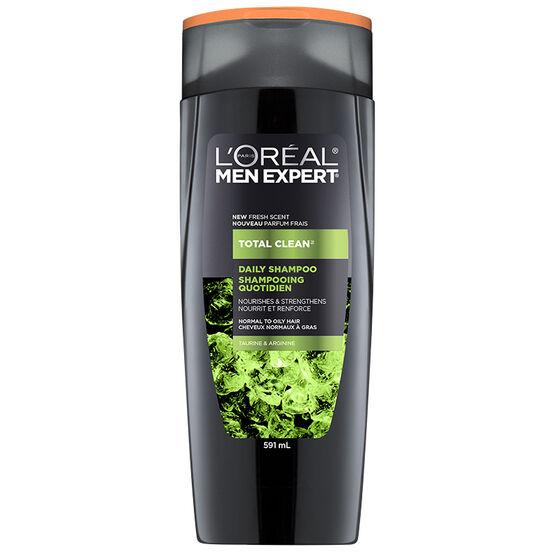L'Oreal Men Expert Total Clean Daily Shampoo - Taurine & Arginine - 591ml