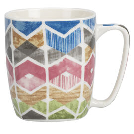 London Drugs Porcelain Mug - 70's Styles - 365ml - Assorted