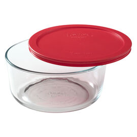 Pyrex Storage with Red Lid - Round - 7 cup